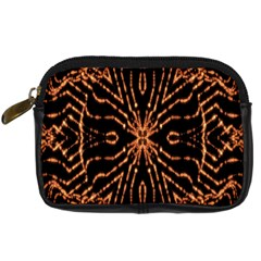 Golden Fire Pattern Polygon Space Digital Camera Cases by Mariart