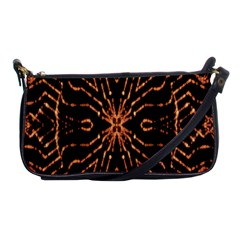 Golden Fire Pattern Polygon Space Shoulder Clutch Bags by Mariart