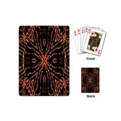 Golden Fire Pattern Polygon Space Playing Cards (mini)  by Mariart