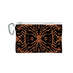 Golden Fire Pattern Polygon Space Canvas Cosmetic Bag (s) by Mariart
