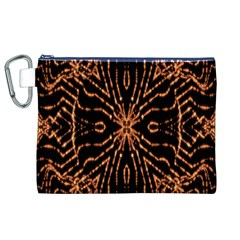 Golden Fire Pattern Polygon Space Canvas Cosmetic Bag (xl) by Mariart