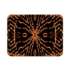 Golden Fire Pattern Polygon Space Double Sided Flano Blanket (mini)  by Mariart