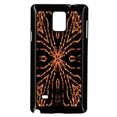 Golden Fire Pattern Polygon Space Samsung Galaxy Note 4 Case (black) by Mariart