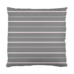 Horizontal Line Grey Pink Standard Cushion Case (one Side) by Mariart