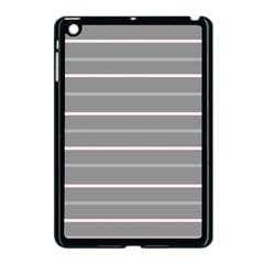Horizontal Line Grey Pink Apple Ipad Mini Case (black) by Mariart
