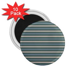 Horizontal Line Grey Blue 2 25  Magnets (10 Pack)  by Mariart