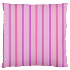 Line Pink Vertical Large Cushion Case (two Sides) by Mariart
