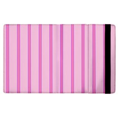 Line Pink Vertical Apple Ipad 2 Flip Case by Mariart