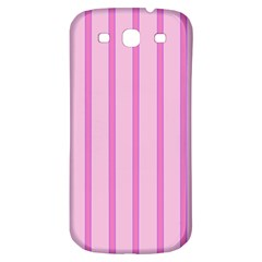 Line Pink Vertical Samsung Galaxy S3 S Iii Classic Hardshell Back Case by Mariart