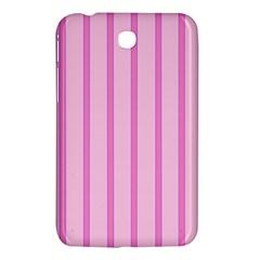 Line Pink Vertical Samsung Galaxy Tab 3 (7 ) P3200 Hardshell Case  by Mariart