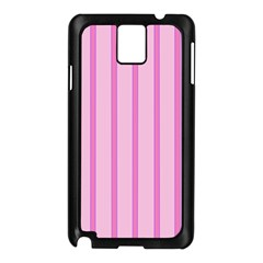 Line Pink Vertical Samsung Galaxy Note 3 N9005 Case (black) by Mariart