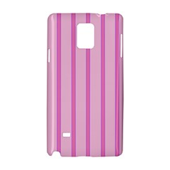 Line Pink Vertical Samsung Galaxy Note 4 Hardshell Case by Mariart