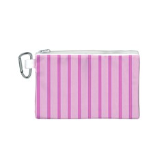 Line Pink Vertical Canvas Cosmetic Bag (s) by Mariart