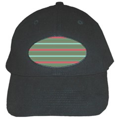 Horizontal Line Red Green Black Cap by Mariart