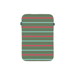 Horizontal Line Red Green Apple Ipad Mini Protective Soft Cases by Mariart
