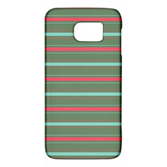 Horizontal Line Red Green Galaxy S6 by Mariart