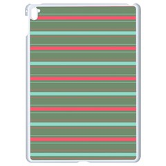 Horizontal Line Red Green Apple Ipad Pro 9 7   White Seamless Case by Mariart