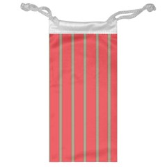 Line Red Grey Vertical Jewelry Bag by Mariart