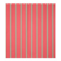 Line Red Grey Vertical Shower Curtain 66  X 72  (large)  by Mariart