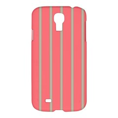 Line Red Grey Vertical Samsung Galaxy S4 I9500/i9505 Hardshell Case by Mariart