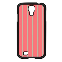Line Red Grey Vertical Samsung Galaxy S4 I9500/ I9505 Case (black) by Mariart