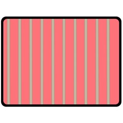 Line Red Grey Vertical Double Sided Fleece Blanket (large)  by Mariart