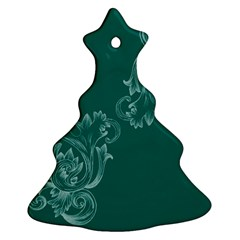 Leaf Green Blue Sexy Christmas Tree Ornament (two Sides) by Mariart