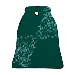 Leaf Green Blue Sexy Bell Ornament (two Sides) by Mariart