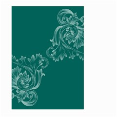 Leaf Green Blue Sexy Large Garden Flag (two Sides) by Mariart