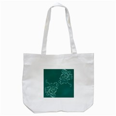 Leaf Green Blue Sexy Tote Bag (white) by Mariart