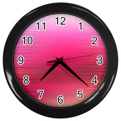 Line Pink Space Sexy Rainbow Wall Clocks (black) by Mariart