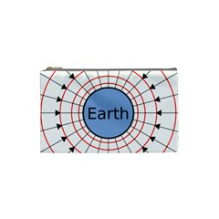 Magnetik Earth s Gravitational Line Triangle Cosmetic Bag (small)  by Mariart