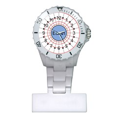 Magnetik Earth s Gravitational Line Triangle Plastic Nurses Watch by Mariart