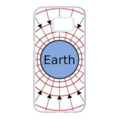 Magnetik Earth s Gravitational Line Triangle Samsung Galaxy S7 Edge White Seamless Case by Mariart