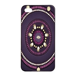 Mandalarium Hires Hand Eye Purple Apple Iphone 4/4s Seamless Case (black) by Mariart