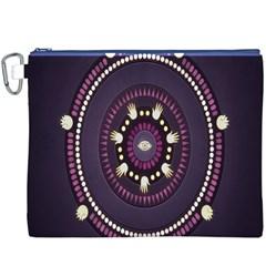 Mandalarium Hires Hand Eye Purple Canvas Cosmetic Bag (xxxl) by Mariart