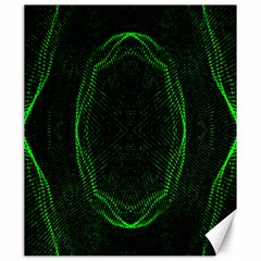 Green Foam Waves Polygon Animation Kaleida Motion Canvas 20  X 24   by Mariart