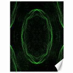Green Foam Waves Polygon Animation Kaleida Motion Canvas 36  X 48   by Mariart