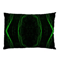 Green Foam Waves Polygon Animation Kaleida Motion Pillow Case (two Sides) by Mariart