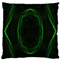 Green Foam Waves Polygon Animation Kaleida Motion Large Flano Cushion Case (two Sides) by Mariart