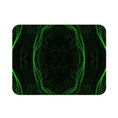 Green Foam Waves Polygon Animation Kaleida Motion Double Sided Flano Blanket (mini)  by Mariart