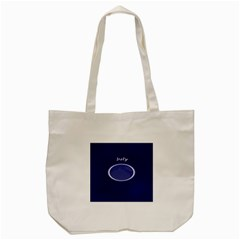 Moon July Blue Space Tote Bag (cream) by Mariart