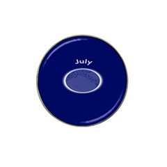 Moon July Blue Space Hat Clip Ball Marker by Mariart