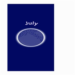 Moon July Blue Space Small Garden Flag (two Sides) by Mariart