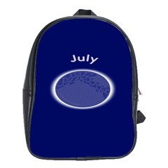 Moon July Blue Space School Bag (xl) by Mariart