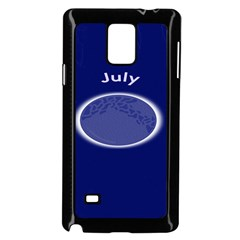 Moon July Blue Space Samsung Galaxy Note 4 Case (black)