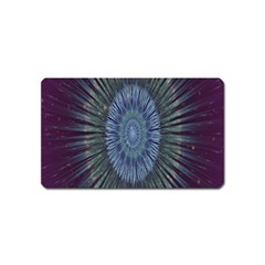 Peaceful Flower Formation Sparkling Space Magnet (name Card) by Mariart