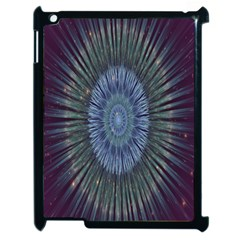 Peaceful Flower Formation Sparkling Space Apple Ipad 2 Case (black) by Mariart