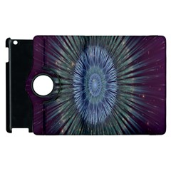 Peaceful Flower Formation Sparkling Space Apple Ipad 2 Flip 360 Case by Mariart