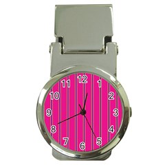 Pink Line Vertical Purple Yellow Fushia Money Clip Watches by Mariart